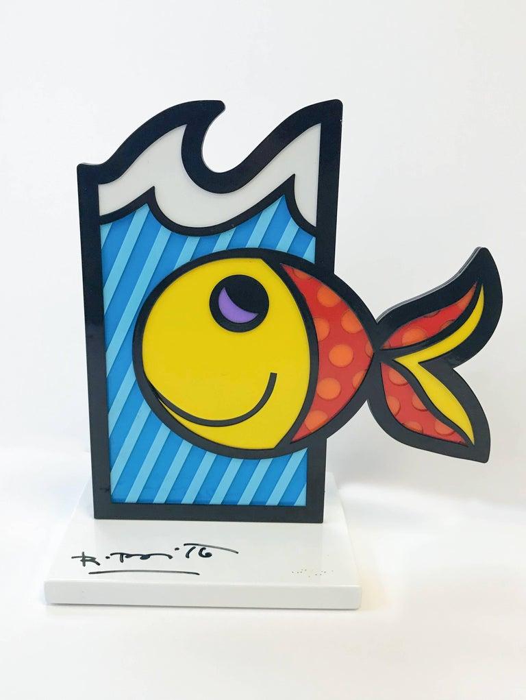 Romero Britto Abstract Sculpture - BOOM FISH