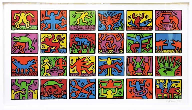 <i>RETROSPECT</i>, 1989, by Keith Haring, offered by Gallery Art