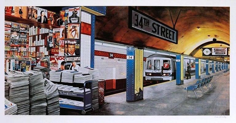 Ken Keeley Figurative Print - 34TH STREET