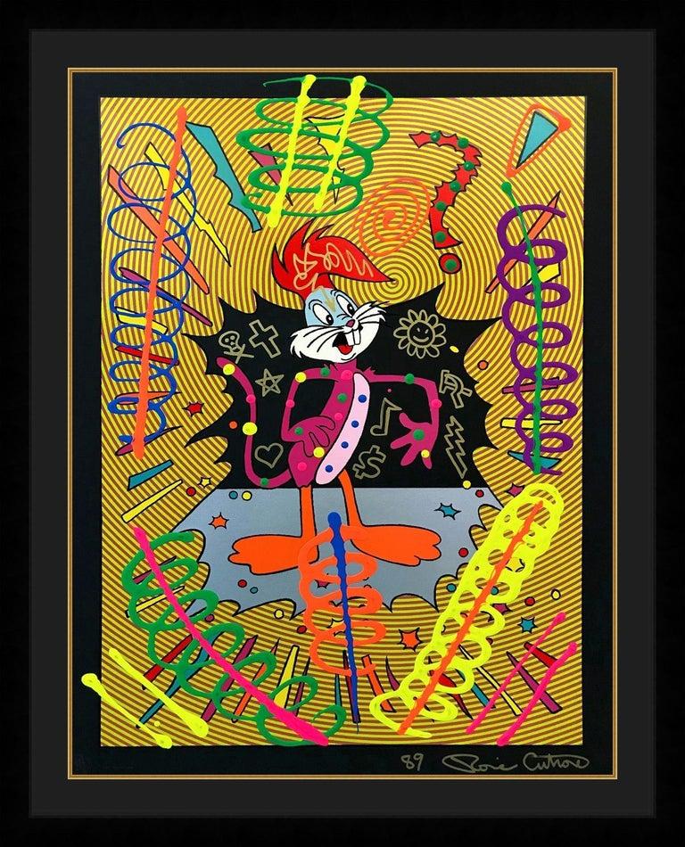 Ronnie Cutrone Figurative Painting - IDENTITY CRISIS (UNIQUE)