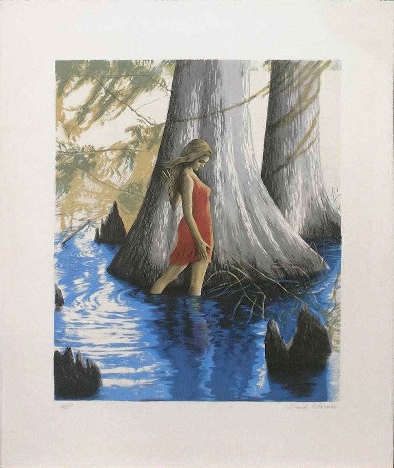 Sandu Liberman Figurative Print - AT THE POND