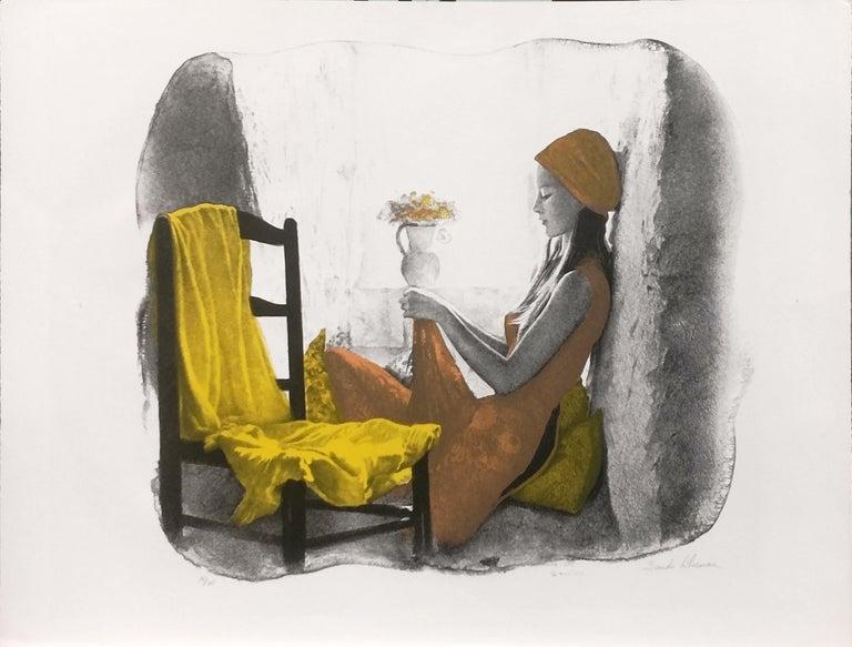 Sandu Liberman Portrait Print - GIRL AT THE WINDOW