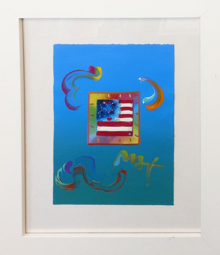 FLAG (OVERPAINT) - Painting by Peter Max