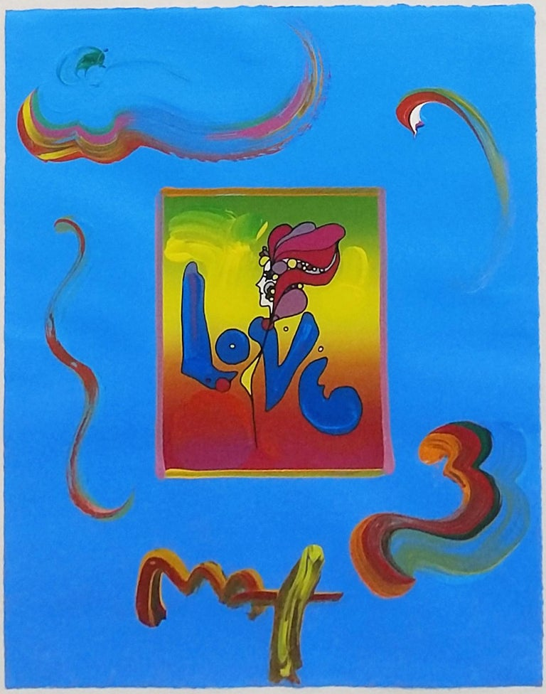LOVE (OVERPAINT) - Mixed Media Art by Peter Max