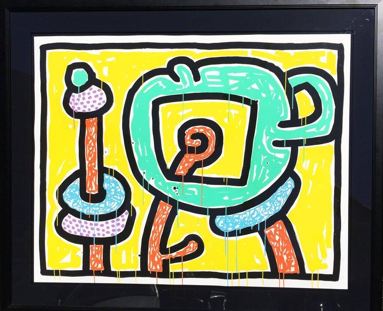 Flowers (#3) - Pop Art Print by Keith Haring