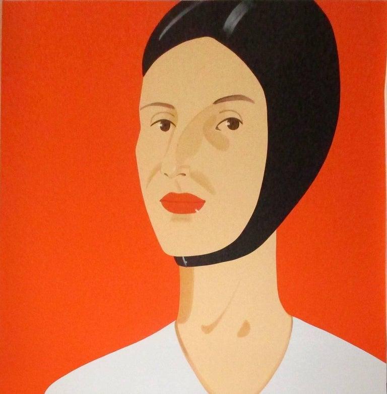 Alex Katz Portrait Print - Bathing Cap (Ada)