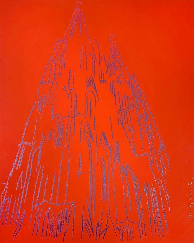 Cologne Cathedral; 1985; Unique Trial Proof Screenprint with Diamond Dust