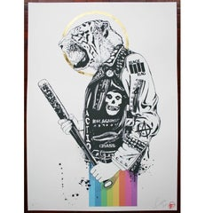 Crass Tiger Limited Edition Gold Leaf Artists Proof Print