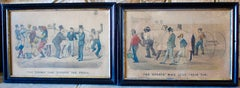 Pair of Currier and Ives Trotting or Harness Racing Lithographs by Thomas Worth