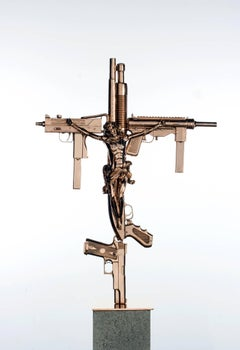 """Crucifix,"" 2012 Contemporary Sculpture by Nimai Kesten"
