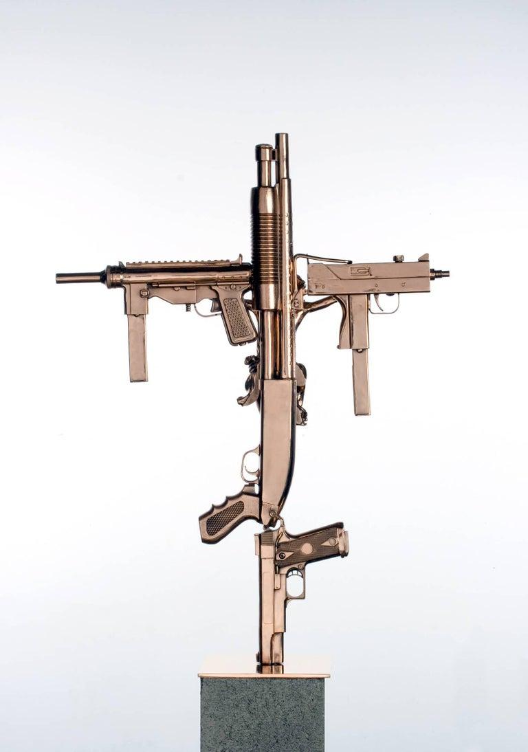 """Crucifix,"" 2012 Contemporary Sculpture by Nimai Kesten For Sale 1"