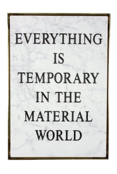 Everything Is Temporary in the Material World