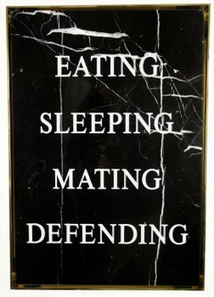 """Eating Sleeping Mating Defending,"" 2016 by Nimai Kesten"
