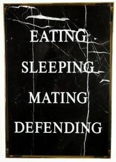 """""""Eating Sleeping Mating Defending,"""" 2016 by Nimai Kesten"""