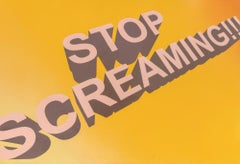 Untitled (Stop Screaming!!!), Contemporary Painting On Paper, 2018