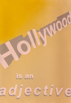 Untitled (Hollywood is an adjective), Contemporary Painting On Paper, 2018