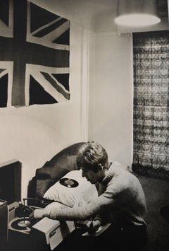 Roger Daltry Listening to My Generation at his Flat in London 1966