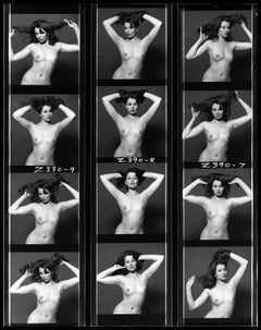 Christine Keeler - 1963 - Contact Sheet - Nude Sitting