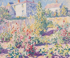 American Impressionist Painting, Provincetown Garden, 1916 by E. Ambrose Webster