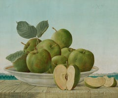 Original Still Life Painting by John Wilde, Summer Apples, 1964