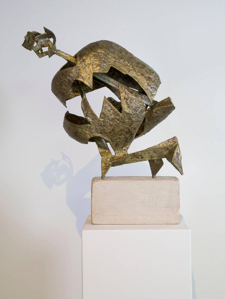 Seymour Lipton Figurative Sculpture - Protector