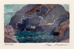Abstract Watercolor by Alan Gussow, Untitled [7/27/88], 1988