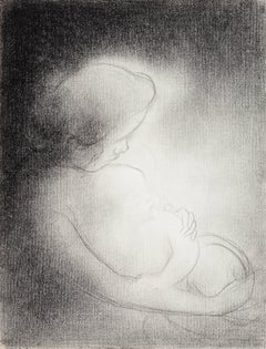 Charles Angrand - Mother and Child