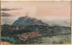 19th Century Cuban Landscape Watercolor, La Loma De Las Animas, 1857