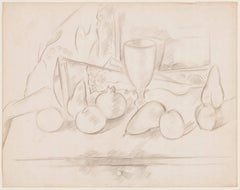 Still Life, Fruit and Goblet, Pencil Drawing by Marsden Hartley, c. 1927