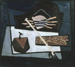 American Modern Still Life Painting, Still Life with Clay Pipe, c. 1935