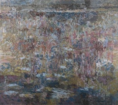 Abstract painting, January Thaw, by Alan Gussow 1965