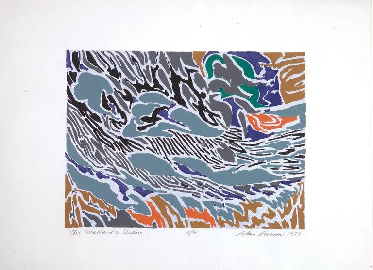 Alan Gussow Abstract Print - The Mallard's Dream
