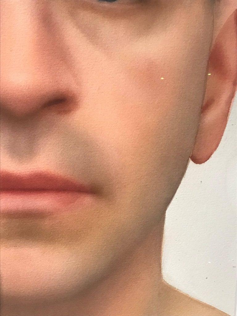 Hyper-realistic Watercolor Portrait by Till Freiwald, 2000 For Sale 2