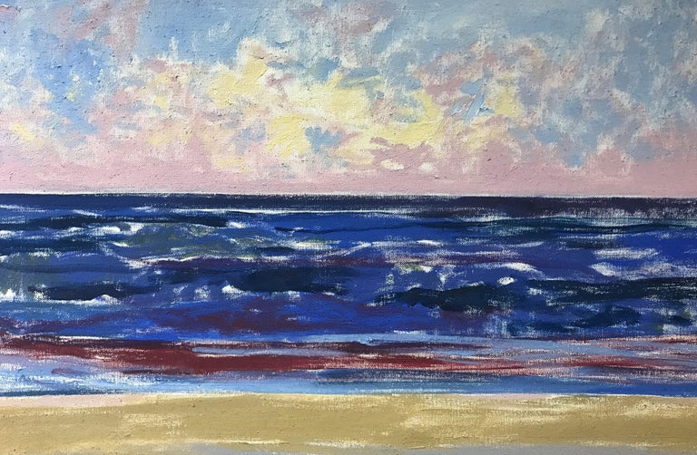 Ocean Sunrise, Ballston Beach - Gray Landscape Painting by Alan Gussow