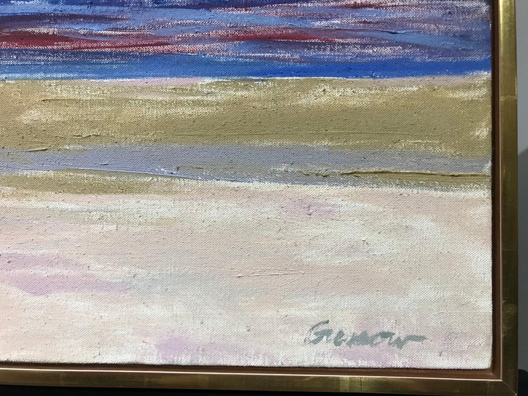 Signed lower right: Gussow Signed, dated and inscribed on stretcher:  Ocean Sunrise Ballston Beach  Alan Gussow 1968 / (Alan Gussow Congers, NY)  This work depicts Ballston Beach, located in Cape Cod, Massachusetts in the town of Truro.  Renowned