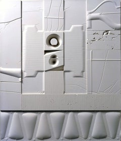Mid-Century Modern Art, Design, 1978, White Relief #6(LE)78