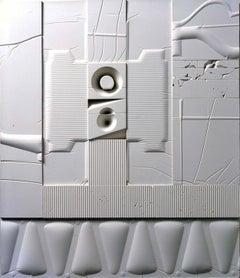Mid-Century Modern Art, Design, 1978, White Relief #6(LE)78