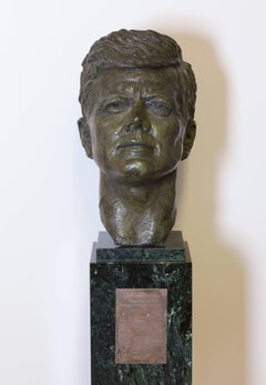 Bronze Bust of John F. Kennedy, 1963, Commissioned by Jacqueline Kennedy