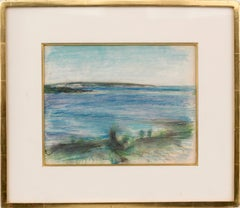 Wellfleet Beach, Cape Cod Massachusetts, Pastel by Edwin Dickinson, 1942