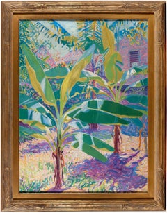 American Modernist painting, Banana Trees, Shutter, Jamaica, 1912