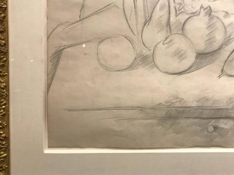 Still Life, Fruit and Goblet, Pencil Drawing by Marsden Hartley, c. 1927 For Sale 4