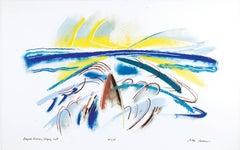 Kayak Hudson/Edging Out, Pastel by Alan Gussow