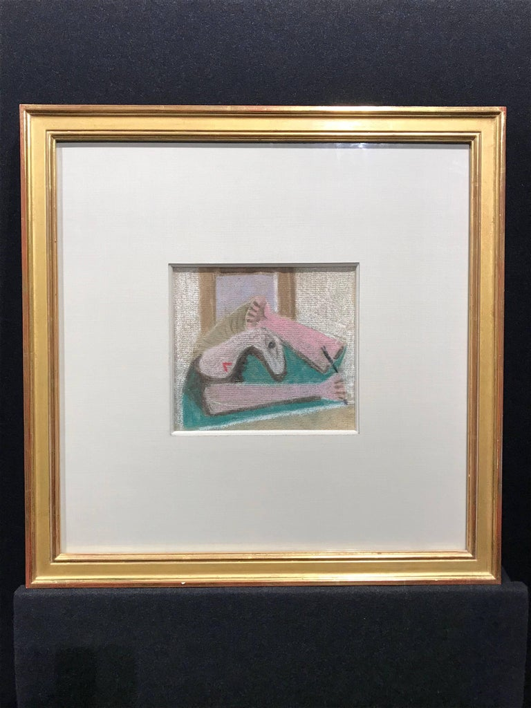 American Modernist Pastel by Edgar, Levy, Figure, c. 1932 - Art by Edgar Levy