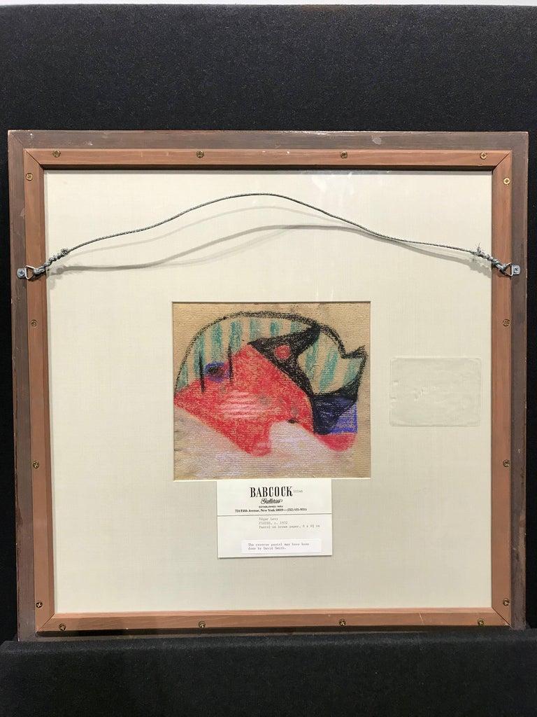 American Modernist Pastel by Edgar, Levy, Figure, c. 1932 - Brown Figurative Art by Edgar Levy