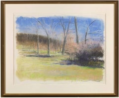 Wolf Kahn pastel, March in New Mexico, 1997