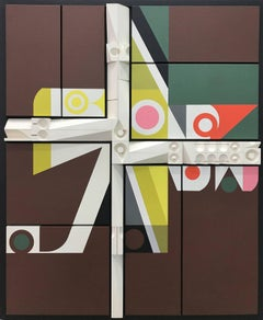 Mid-Century Modern Art, Design, Relief Painting #1572, by Abe Ajay 1972