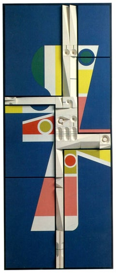 Mid-Century Modern Art, Design, Relief Painting #974, by Abe Ajay 1974