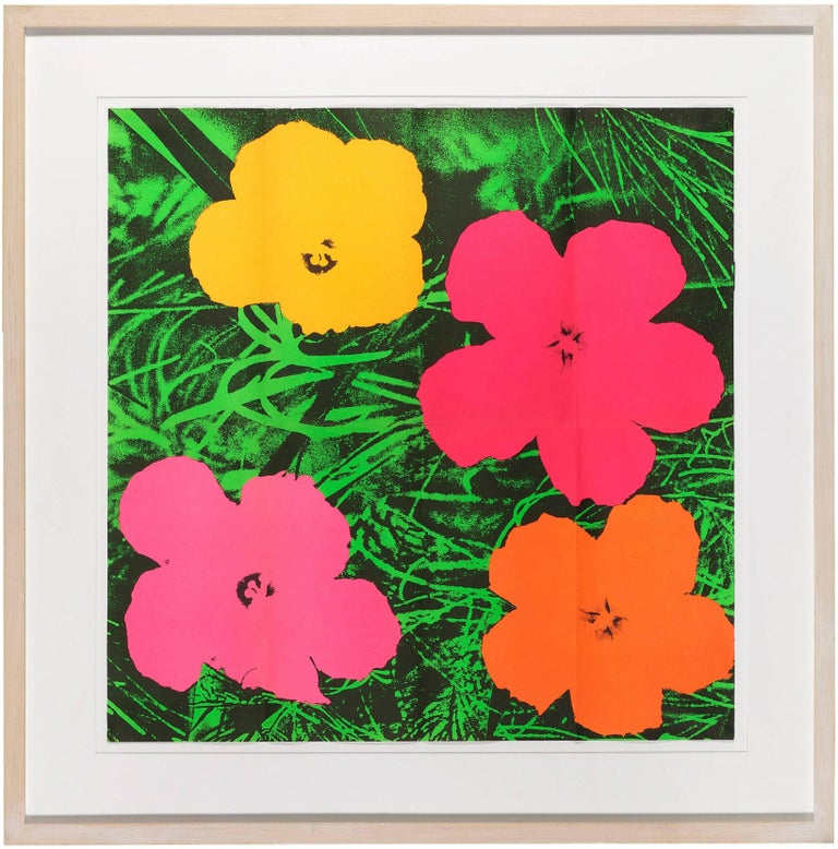 Andy Warhol Print - Flowers