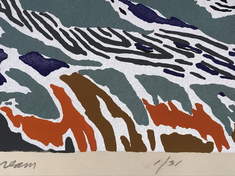 The Mallard's Dream - Gray Abstract Print by Alan Gussow