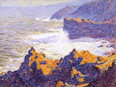 American Modern Painting by E. Ambrose Webster, Volcanic Cliffs, Azores, 1913